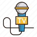 device, journalist, microphone, news, tv icon
