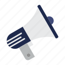 advertising, announcement, loudspeaker, megaphone, news, speaker icon