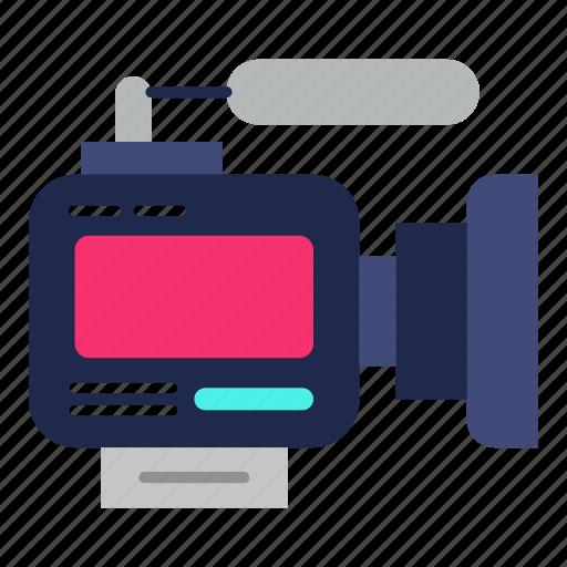 camera, cinema, entertainment, movie, news, photography, videocam icon