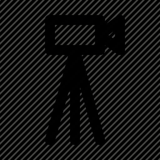 broadcast, camara, news, newscast, stand, television, tripod icon