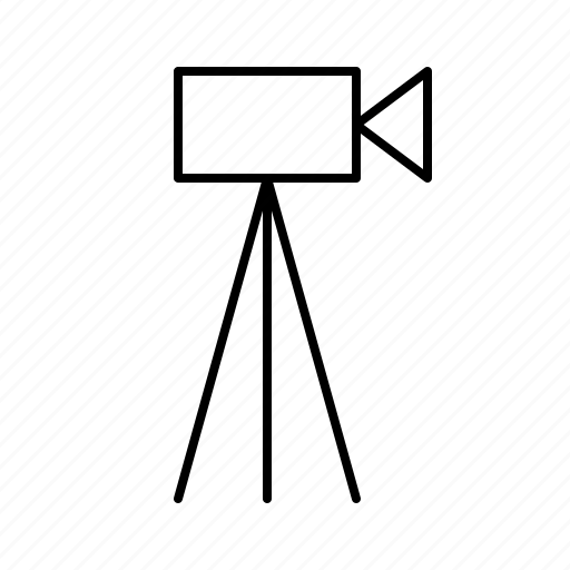 broadcast, camara, news, newscast, stand, television, tripod icon