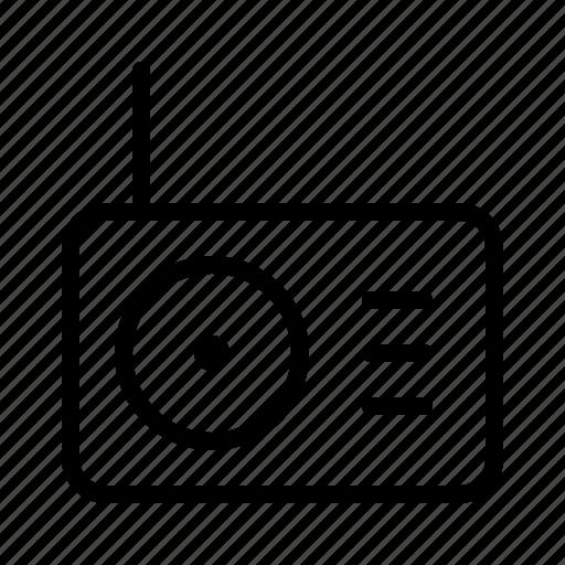 broadcast, news, newscast, radio, television icon