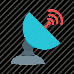 antenna, dish, radio, satellite, signals, space, technology icon