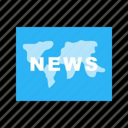backdrop, digital, global, news, screen, studio, world icon