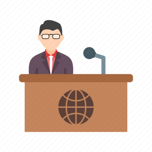 anchor, broadcast, desk, news, reporter, studio, tv icon