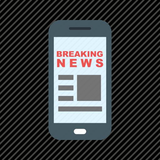 digital, mobile, news, online, phone, screen, smartphone icon