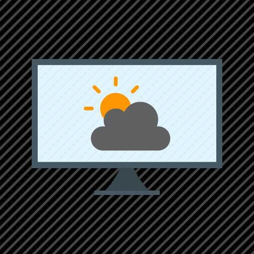 communication, forecast, live, news, report, weather, world icon