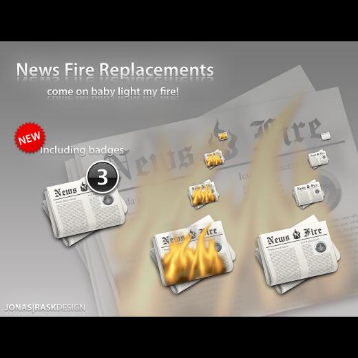 newsfire, p icon