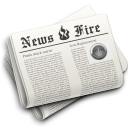 news newspaper hot fire icon
