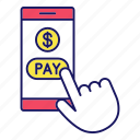 banking, e-payment, mobile, money, online, pay, smartphone icon