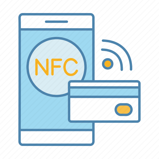 cashless, credit card, e-payment, nfc, pay, smartphone, technology icon