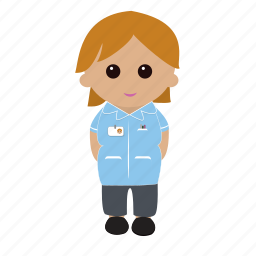 female, nhs, nurse, uniform icon