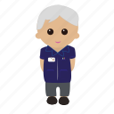 blue, cartoon, grey, male, nhs, nurse, tunic icon