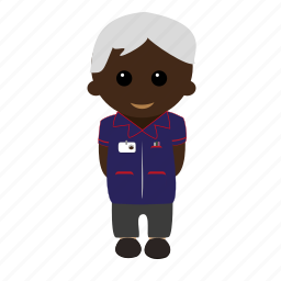 cartoon, grey, male, nhs, nurse, tunic, uniform icon