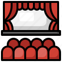 theater, curtains, stage, entertainment, performance