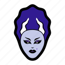 bride of frankenstein, creature, femme fatale, halloween, monster