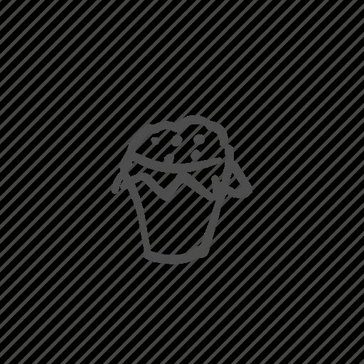 blueberry, dessert, food, muffin, sugar, sweet, wheat icon