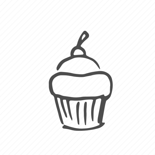 cake, cupcake, dessert, food, sugar, sweet, wheat icon