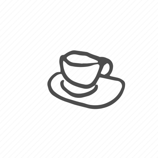 beverage, coffee, cup, drink, saucer, tableware, utensil icon