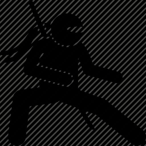 fight, ninja, ready, stance icon