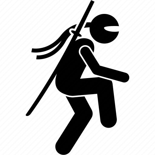 ninja, slowly, sneaky, walk, walking icon
