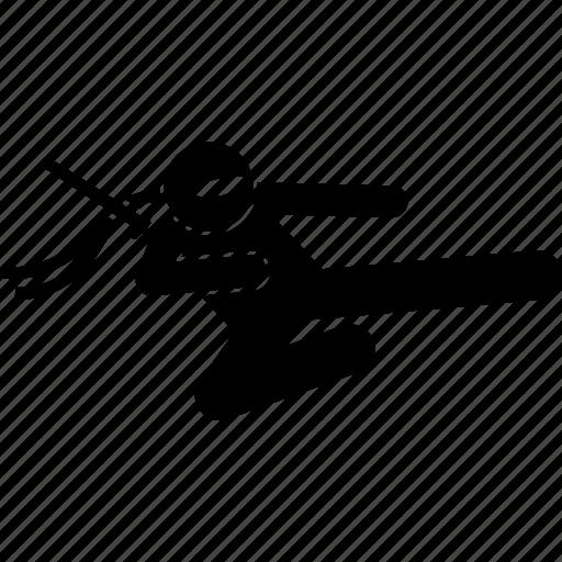 attack, flying, kick, ninja icon