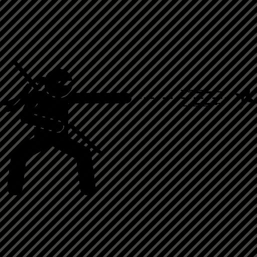 ninja, shuriken, star, throw, throwing icon