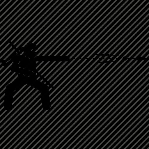 knife, kunai, ninja, throwing, weapon icon