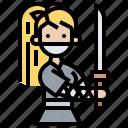 fighter, girl, martial, ninja, sword