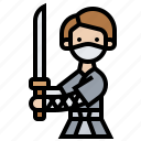 fighting, katana, ninja, samurai, warrior icon