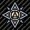 blade, shuriken, star, symbol, weapon