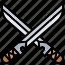 battle, katana, samurai, swords, weapon icon