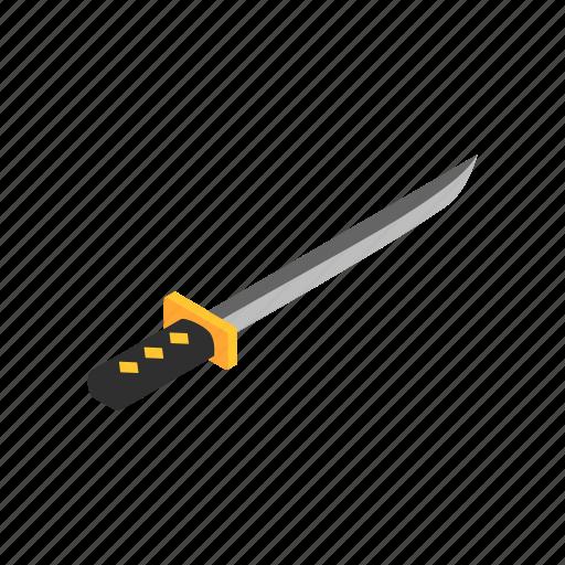 blade, isometric, japanese, ninja, samurai, wakizashi, weapon icon