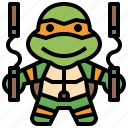 avatar, hero, michaelangelo, ninja, people, super, turtles icon