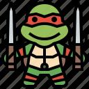 avatar, hero, ninja, people, raphael, super, turtles icon