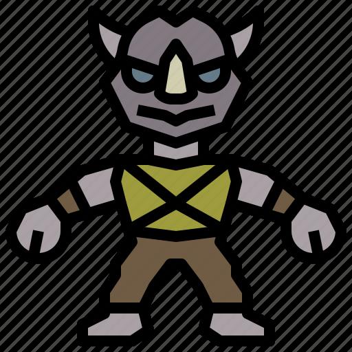 avatar, hero, ninja, people, rocksteady, super, turtles icon