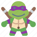 avatar, donatello, hero, ninja, people, super, turtles icon
