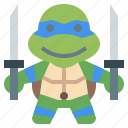 avatar, hero, leonado, ninja, people, super, turtles icon
