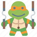 avatar, hero, ninja, super, turtles, michaelangelo, people icon
