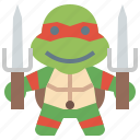 avatar, hero, ninja, people, raphael, super, turtles icon