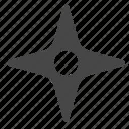 asian, japanese, missile, ninja, shuriken, star, weapon icon