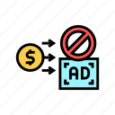 advertisement, no, stop, money, advertise, pay