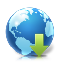 downloads, earth, planet, world icon
