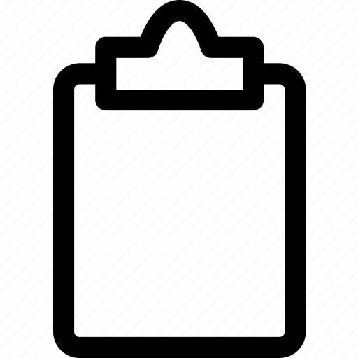 clipboard, empty, office, page, paper icon