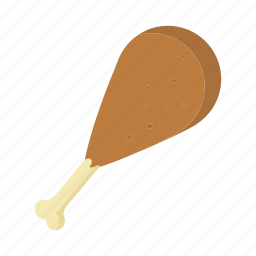 chicken, cooked, drumstick, food, fried, meal, meat icon