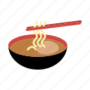 bowl, chopsticks, cuisine, food, japanese, noodle, ramen icon