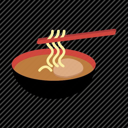 bowl, chopsticks, cuisine, food, japanese, noodle, ramen icon