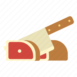 cooked, cuisine, dish, gourmet, meal, meat, sliced pork icon