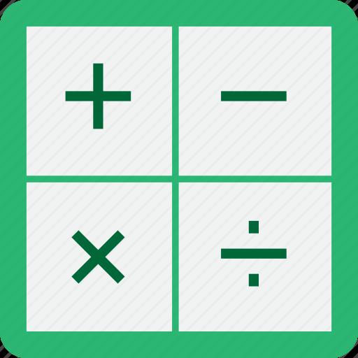 calculator, education, math, plasticons icon