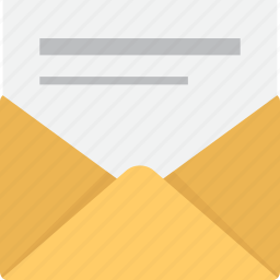 contact, email, envelope, letter, mail, message, opened icon